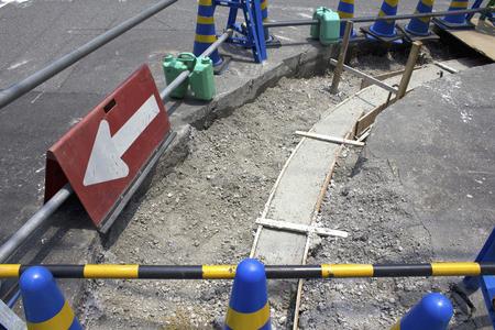 sidewalks: Foundation construction of sidewalks