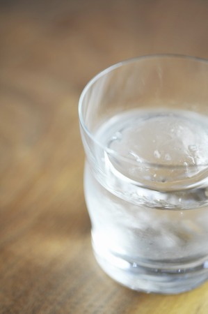 distilled alcohol: Rock of shochu Stock Photo