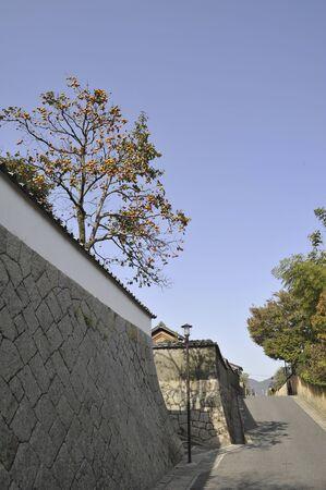 residences: Fence of samurai residences