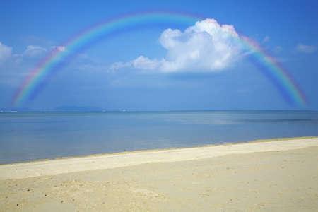 mar: Kohamajima  rainbow and toe Mar Beach