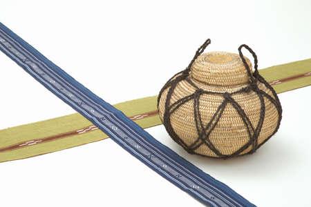 ryukyu: Obi and seeds put weave Mincer