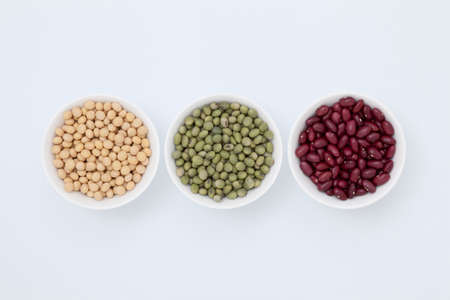 entered: 3 types of beans that entered the white bowl