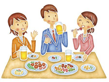 3 남성과 다이어트에 대한 여성 스톡 콘텐츠