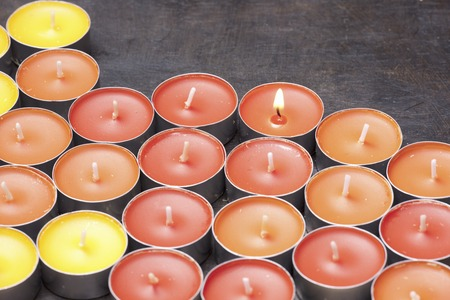multiple: Multiple candles Stock Photo