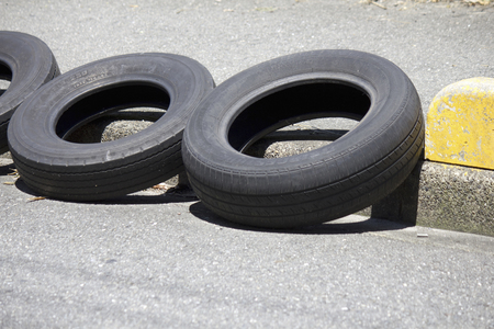 nuisance: Old tires of nuisance parking prevention