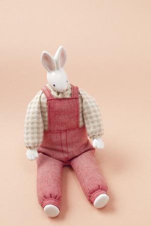 asian bunny: Rabbit craft doll