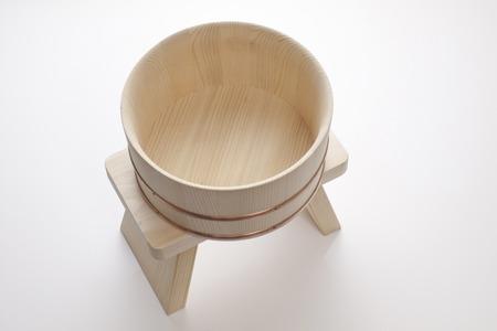 天然木湯殿椅子・お湯ポット