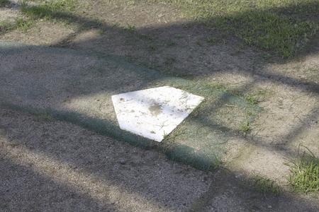 base: Grass baseball home base