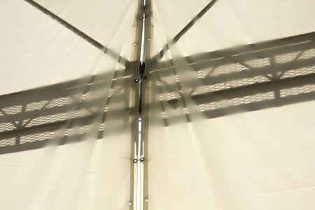 sheer: Scaffolding silhouette sheer tent