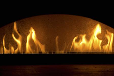 kiln: Kiln burning pizza Stock Photo