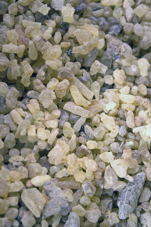 frankincense: A large amount of frankincense Stock Photo