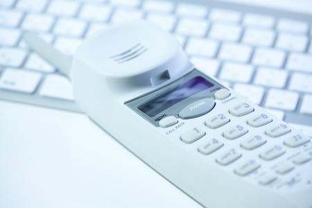 cordless: PC keyboard and cordless telephone