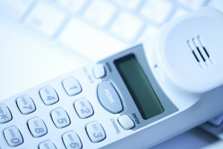 pc: PC keyboard and cordless telephone