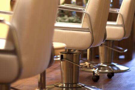 salon: Beauty Salon Chair Stock Photo