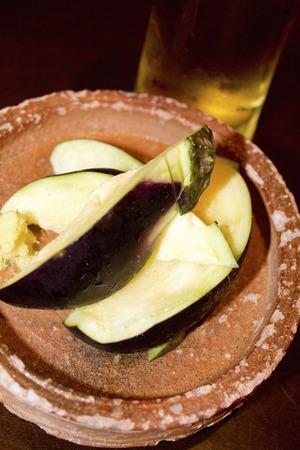 draft beer: Eggplant and draft beer