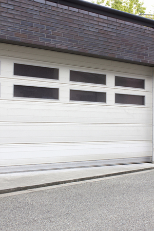 housing lot: Door of the luxury home garage