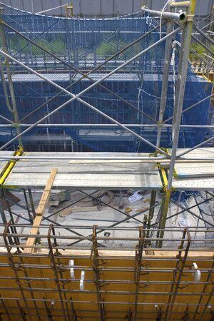 andamios: Andamio en una obra en construcción