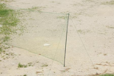 ballpark: Baseball field of dry riverbed Stock Photo
