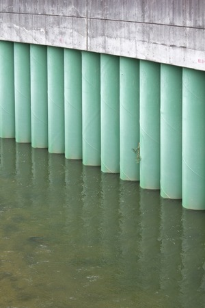 sidewall: The side wall of the rivers flowing through the city