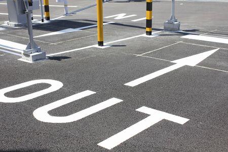 コイン駐車場出口 写真素材