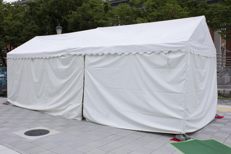 hypothesis: White tent events for Stock Photo