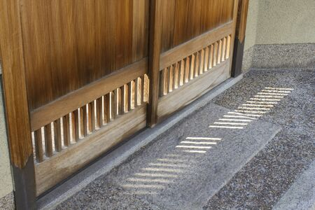 sliding: Sliding door of the entrance of Japanese-style house Stock Photo