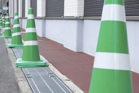 パイロンの迷惑駐車禁止