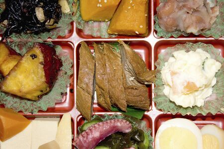 side dishes: Side dishes of Japanese-style lunch Stock Photo