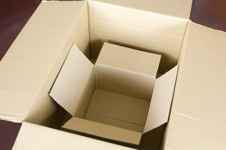 empties: Empty boxes of cardboard