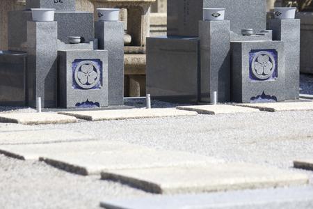 headstones: Cemetery headstones Stock Photo