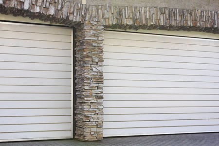 housing lot: Luxury residential garage Stock Photo