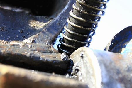 hydraulic hoses: Construction machinery hydraulic hose Stock Photo