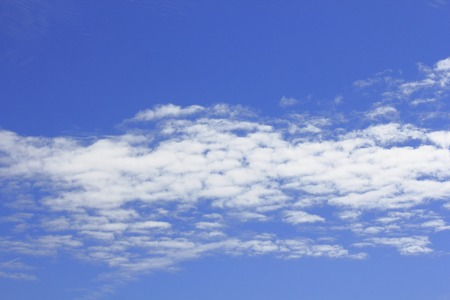 the natural phenomena: Gaping floating scale cloud autumn sky