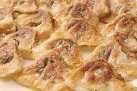 mouthful: Bite dumplings Stock Photo