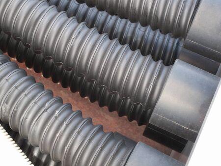 manguera: Manguera de agua industrial con cable