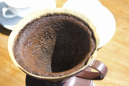 insipid: Coffee powder of insipid after the extraction