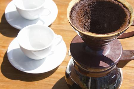 抽出後のインシピッドのコーヒーパウダー