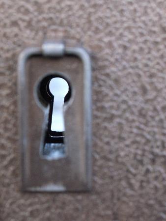 keyhole: Keyhole of residential gate