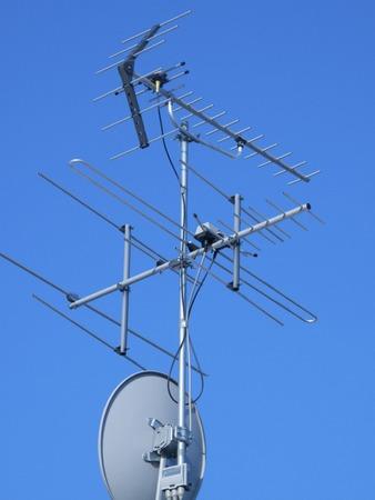 tv antenna: Residential roof TV antenna