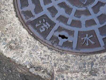 manhole: Street rain water for manhole cover