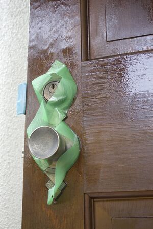 d i y: Front door of the house that was varnished