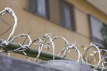 crime prevention: Crime prevention for the barbed wire on the fence