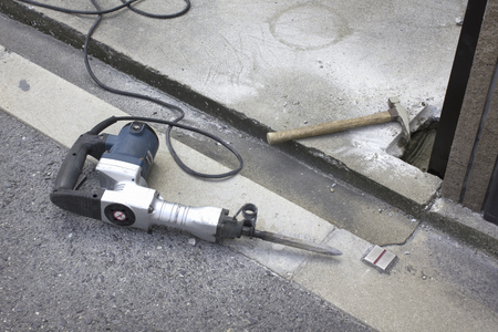 electric drill: Electric drill and hammer of groove construction of housing