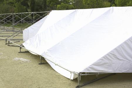 assembly: Tent Assembly preparation