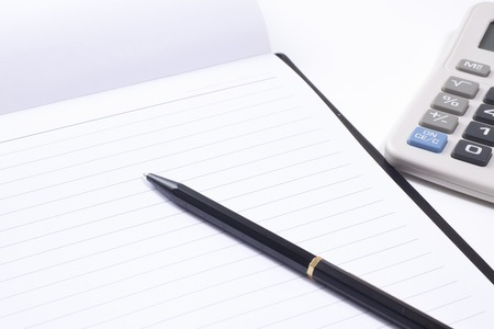 ballpoint pen: Business image of the notebook and ballpoint pen Stock Photo