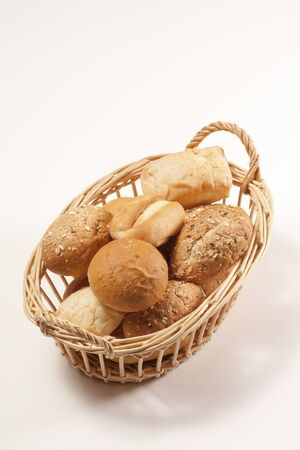 basket with bread: I went into the basket bread Stock Photo