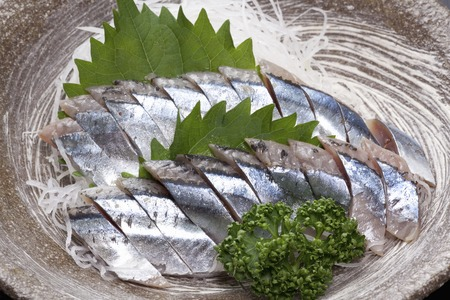 rawness: Saury sashimi