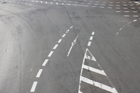 white lines: White lines on the road