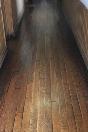 housing style: Battered floorboards Stock Photo