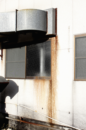 duct: Factory exhaust duct contaminated with rust Stock Photo